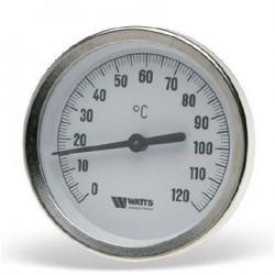 "Bimetalinis termometras diametras 63 mm, Dn1/2"", gilzė 50mm x 9mm"